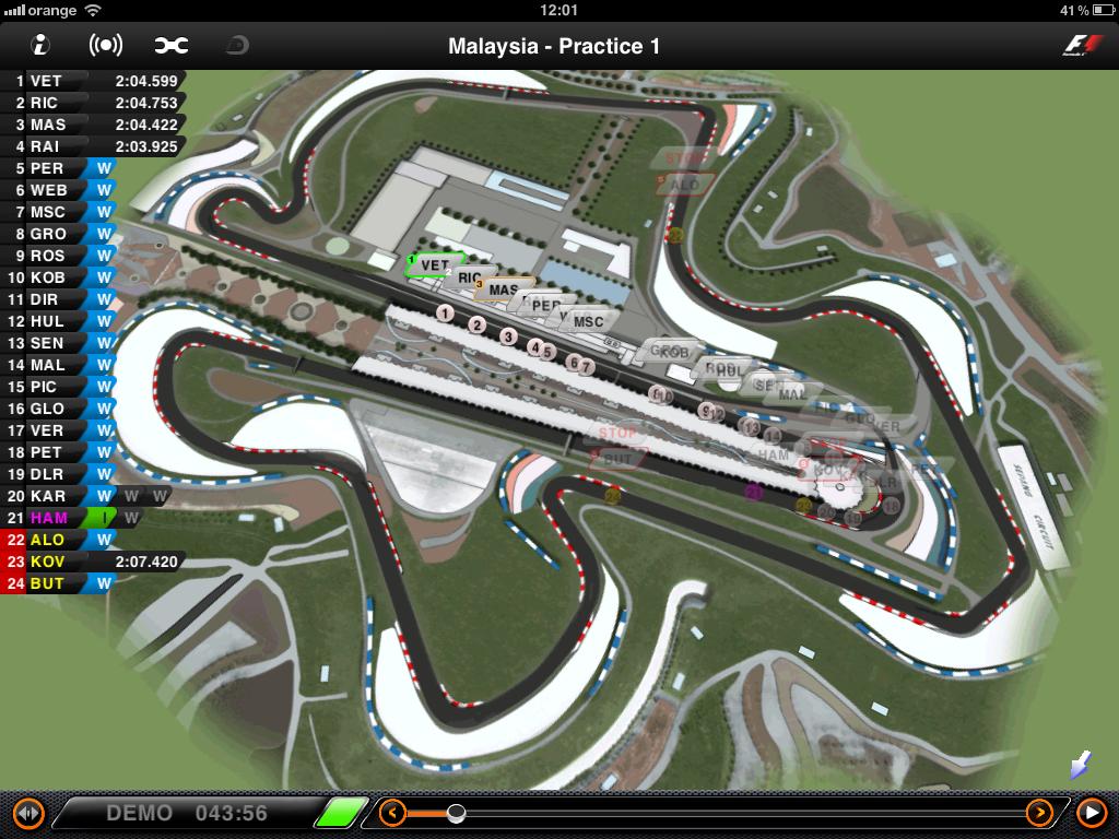 Malajzia Formula 1 pálya